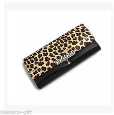 HX New Ladies Faux Leather Fashion Tan Wallet Purse Animal Tiger Leopard Print