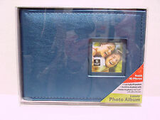 "LUXURY PHOTO ALBUM HOLDS 40 PHOTOS 4.5""X6"" PLEATHER BLUE,green,pink"