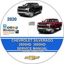 Chevrolet Silverado Factory Workshop 2500HD 3500HD 2020 Service Repair Manual CD