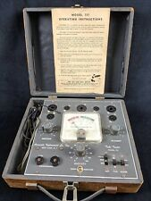 1964 Accurate Instrument Co Tube Tester Model 151 with Booklet