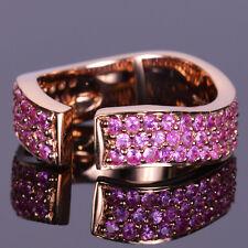 Miriam Marta Pink Sapphire Finger Cuff in 14k Rose Gold