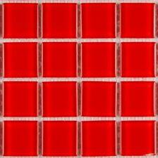 pièces de PATRON Cristal Rouge mosaïque verre carreau env. 10,5 x 10,5 x 0,4 cm