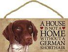 German Shorthair Pointer Wood Sign Wall Plaque 5 x 10 + Bonus Coaster