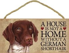 German Shorthair Pointer Wood Sign Wall Plaque 5 x 10 + Bonus Coaster