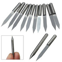 10PCS Carbide PCB Board 0.1mm 30 Degree Engraving Bits CNC Router Tool V-shape