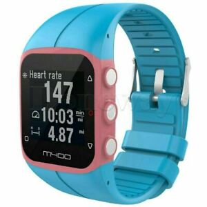 Soft Silicone Rubber Wrist Watch Band Strap for Polar M400 M430 GPS Watch BUS