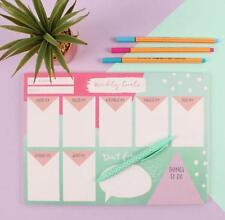Weekly A4 Planner Organiser Tear Off Notes 45 Sheets To Do List Goals Gift