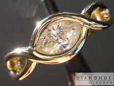 0.43ct Light Yellow I1 Marquise Diamond Ring R8369 Diamonds by Lauren