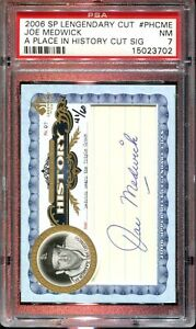 Joe Medwick 2008 SP Legendary Cut #PHCME Autograph PSA 7-PSA Auto Set Break