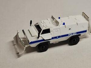 - Rietze Sonderwagen Thyssen TM-170 Polizei / Bundespolizei weiß-blau 1:87 H0 -