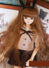 1/4 bjd msd mdd doll clothes brown uniform long sleeve dollfie dream minifee