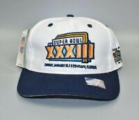 Vintage NFL Super Bowl XXXIII Atlanta Falcons Logo 7 Snapback Cap Hat - NWT