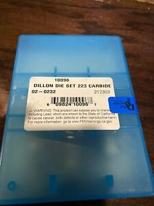 DILLON 223 556 CARBIDE DIE SET .223 556 10096 NEW DILLON PRECISION Ready to ship