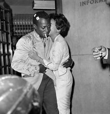 8x10 Print Miles Davis with Wife 1959 American Jazz Trumpeter Bandleader #MD08
