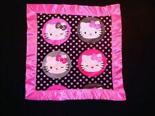 Handmade Toddler Fleece Blanket with Bright Pink Satin trim