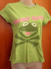 KERMIT THE FROG juniors XXL kids T shirt Muppets Rocks green 2X crossbones punk