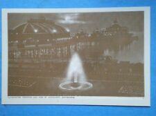 POSTCARD SUSSEX EASTBOURNE - ILLUMINATED FOUNTAIN & PIER BY MOONLIGHT
