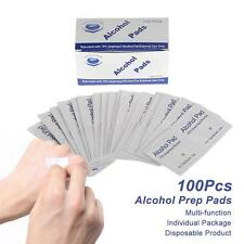 100Pcs Alcohol Prep Pads Antiseptic Sterilization Nail Cleaning Wipe Cotton J0K3