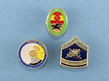 Three Obsolete Spanish National Police Metal Collar Badges