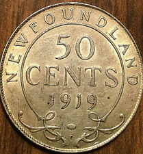 1919 NEWFOUNDLAND SILVER 50 CENTS FIFTY CENTS - Fantastic example!