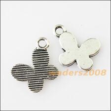 25 New Tiny Animal Butterfly Tibetan Silver Tone Charms Pendants 11x13.5mm