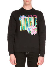 New Kenzo Paris Jungle Disney Embroidered Sweatshirt Sweater Black M Medium