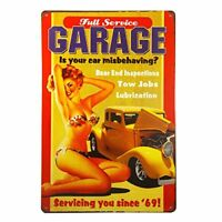 "Full Service Garage Metal Tin Sign 8"" x 12"""