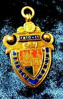 England 1911 Solid Gold badge The Bristol Football League Champion medal