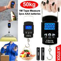 50kg Digital Travel Portable Handheld Weighing Luggage Scales Suitcase Fishing