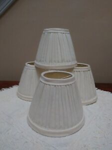 Set of 4 Ivory Bell Shade Chandelier Shade Clip on Shades