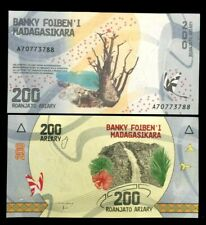 Madagascar 200 Ariary Banknote World Paper Money UNC Currency Bill Note