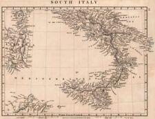 ITALY SOUTH. General map. Sardinia Sicily. ARROWSMITH 1828 old antique