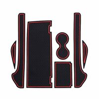 LFOTPP 2016-2018 Tesla Model X Non-Slip Interior Door Cup Mat Pad with Key Cover