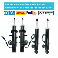 4PCS Front and Rear Gas Shock Absorbers Fit BMW X5 X6 X5M F15 F16 F85 F86 VDC