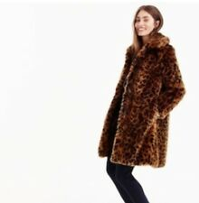 NWT J Crew Faux Fur Leopard Print Coat Sz XXXS Spotted G9553 SOLD OUT!! Jacket
