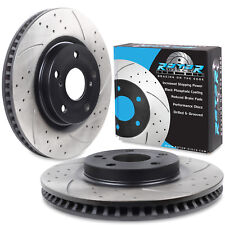 FRONT DRILLED GROOVED 296mm SPORT BRAKE DISCS PAIR FOR LEXUS IS220 IS250 220 D