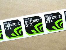 3x NVIDIA GEFORCE GTX Sticker 17.5x17.5mm Case Badge Logo USA Seller Free S