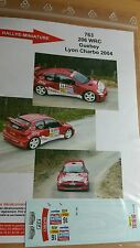 DECALS 1/32 REF 763 PEUGEOT 206 WRC GUEBEY RALLYE LYON CHARBONNIERES 2004 RALLY