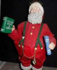Cloth Art Sculpture Santa Claus Atlas Dec 24 Christmas Figure Midwest Cannon