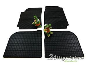 4 x Gummi-Fußmatten ☔ für AUDI 100 C4 1990-1994 und A6 - C4 1994 - 1997 + Clips