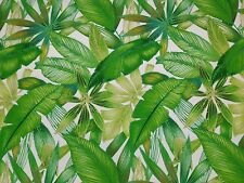 RICHLOOM CANTRELL PALM GREEN TROPICAL LEAF OUTDOOR INDOOR FABRIC BY THE YARD