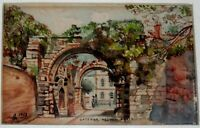 """ARTIST SIGNED ORIGINAL WATERCOLOR PAINTING TITLED """"GATEWAY, HEXHEM ABBEY"""""""
