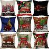 Home Christmas XMAS Cotton Linen Pillow Case Sofa Car Throw Cushion Cover Decor