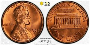 1959-D Lincoln Memorial Cent 1c PCGS MS-64RD (Undergraded Should Be 67+)
