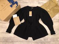Burberry 100%GENIUNE W/Receipt Peplum Wool Cashmere Jacket Cardigan RRP£1595 NEW