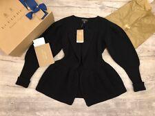 Burberry 100% Authentic W/Receipt Peplum Wool Cashmere Jacket Cardigan Sz XS NEW
