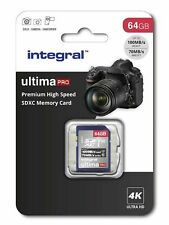 Integral 64GB SD card 4K video Premium High Speed memory card SDXC Up to 100MB/s