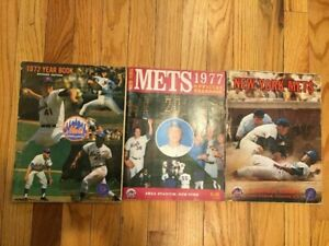 New York Mets 1971 1972 1977 yearbooks lot of 3 year book NY Amazings