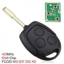 433 MHZ 3 Buttons Remote Entry Key Fob with Chip for Ford Mondeo /Fiesta /Focus