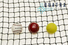 Black Cricket Net / Sports Barrier Netting 15m X 3m Ball Stop Net